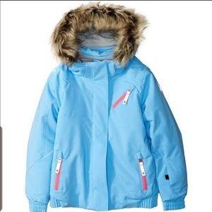 SPYDER Toddler Girls Lola Jacket Blue Pink 3T